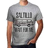 Photo de Homme T Shirt Graphique Imprimé Vintage Tee Saltillo Wait for Me Gris Chiné
