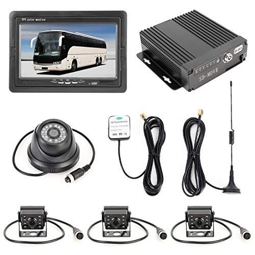 Cámara de respaldo Camión 360 grados Monitoreo en tiempo real de 4 canales SD en tiempo real de millones de píxeles SD DVR móvil, Soporte Enlace con el teléfono celular, etc.