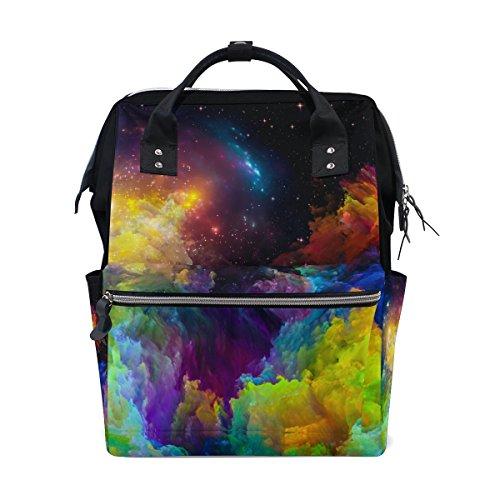 Ahomy Sac à langer pour bébé Coloré Nebula Space Stars Maman Sac à langer Sac à dos de voyage