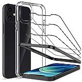 LK Hülle mit Schutzfolie Kompatibel mit iPhone 12 und iPhone 12 Pro, 6.1 Zoll, 1 Hülle und 3...