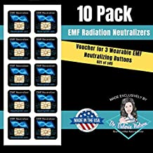 Cell Phone EMF Protection Radiation Neutralizers + Free $45 Voucher for 3 EMF Protection Buttons - 100% USA Made - Developed by Dr. Valerie Nelson, Natural Doctor