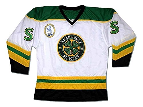 Ross The BOSS Rhea ST John's Shamrocks Hockey Jersey with EMHL Patch Stitch (38) White