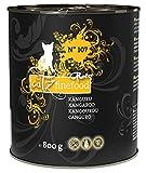 catz finefood Purrrr Känguru Monoprotein Katzenfutter nass N° 107, für ernährungssensible Katzen, 70% Fleischanteil, 6 x 800 g Dose