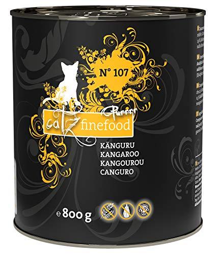 catz finefood Purrrr Känguru Monoprotein Katzenfutter nass N° 107, für ernährungssensible Katzen, 70{af5e44a502c2a969651d1dceed4b9512f9b2f089beef0d9c6abeac18c3768006} Fleischanteil, 6 x 800 g Dose