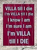 Fhdang Decor Aston Villa Till I Die Fußballsong Sicherheits-Aluminium-Metallschild für Wanddekoration, Metall, Multi, 8x12 inches