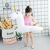 Xueliee Baby Float, Flamingo/Einhorn aufblasbar Baby Pool Float Dual Schwimmen Ring Design, E2 Unicorn/Fits:6-48 Months