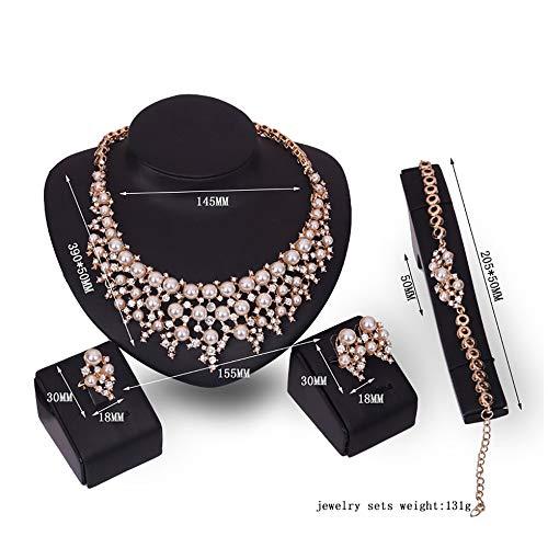 61154190 Meisjes ornament set legering dames halsketting vrouwen armband paar oorbellen