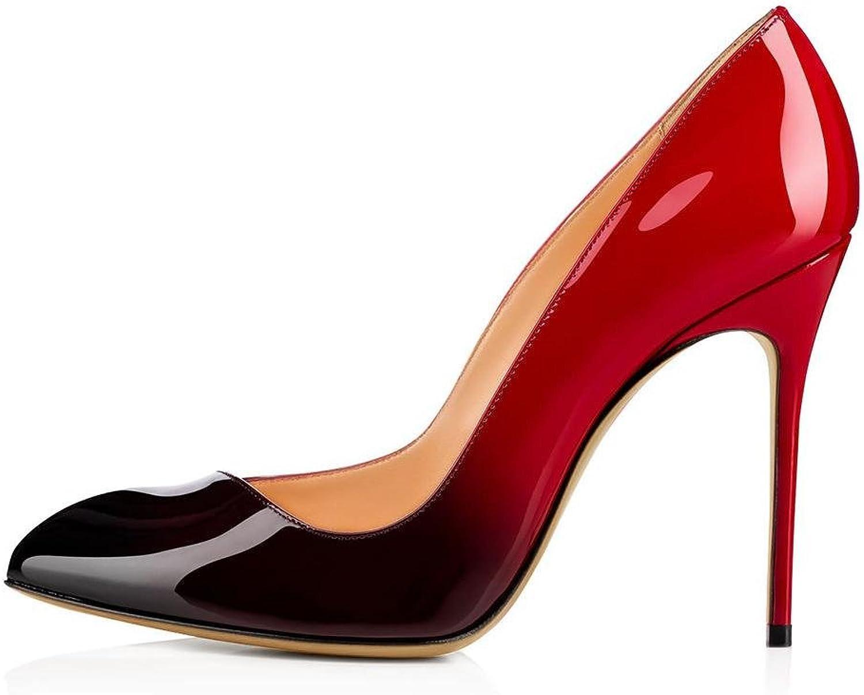Damen Stilett Hoch Hacke Schuhe Schuhe Schuhe Spitz Gericht Clever Party Arbeit rot Pumps Kleid Nachtclub Größe 35-44  134a38