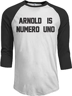 Arnold is Numero Uno 3/4 Sleeve Baseball Tshirt Raglan Jersey Shirt
