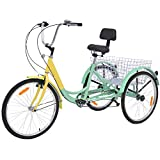 Adult Tricycles, 7 Speed Adult Trikes 20/24/26 inch 3 Wheel...