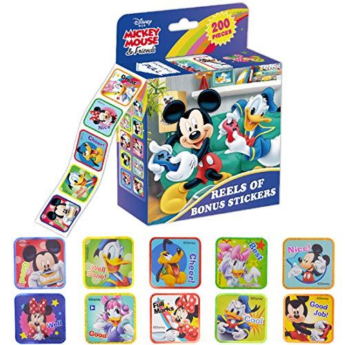 Pegatinas de Mickey - YUESEN 200PCS Diferentes pegatinas de Minnie Mouse Pegatinas impermeables para decoraciones Tronco Teléfono Motocicleta Bicicleta Coches Monopatín Pegatinas