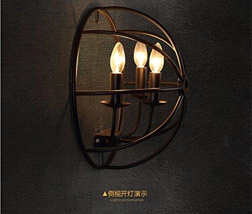 JJZHG wandlamp wandlamp waterdichte wandverlichting vintage ijzeren plank 3 restaurant wandlamp persoonlijkheid koffie bar gang decoratieve wandlamp omvat: wandlamp