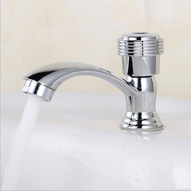 SLTYSCF Faucet Basin Faucet Single Cold Faucet New Arrival Modern Bathroom Faucet for Sink Water Tap Single Handle Single Hole Basin Faucet
