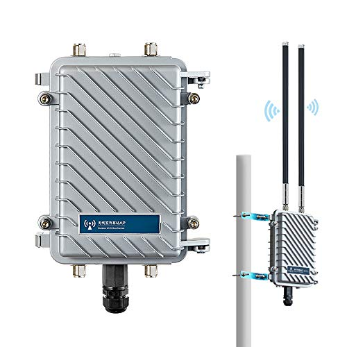 600Mbps 802.11AC Outdoor Wireless Access Point 2.4G 5GHz WiFi Extender IP67 Waterproof Base Station Long Range Wi-Fi Repeater AP with External Omni Antenna