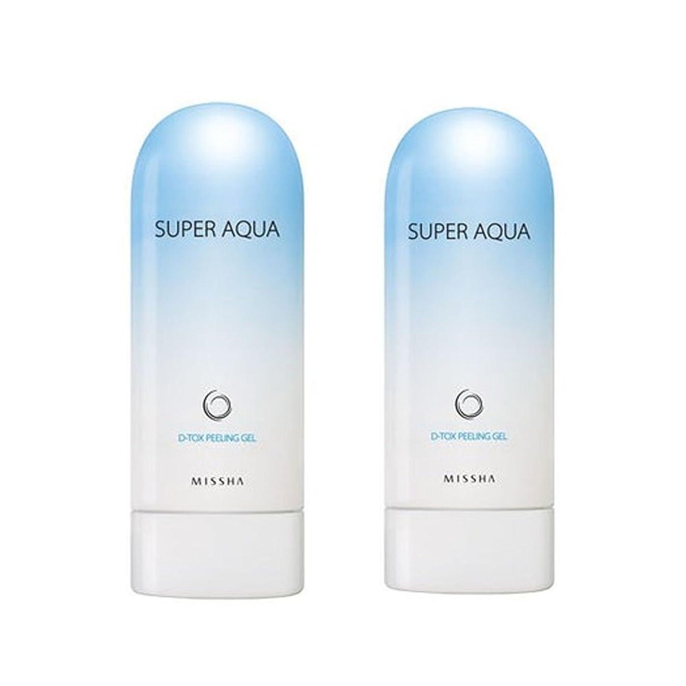 攻撃ネブ寄生虫ミシャスーパーアクアピーリングジェル100ml x 2本セット、MISSHA Super Aqua Peeling Gel 100ml x 2ea Set [並行輸入品]