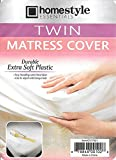 Mattress Protector - Twin Size- Waterproof Soft Plastic-Mattress Cover- Style-1 - Twin Size