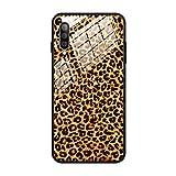 F&X Samsung Galaxy A50 Custodia, 360 gradi protezione in vetro temperato – Leopard Zebra Donna modello