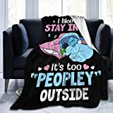 Lilo Stitch Blanket Ultra-Soft Micro Fleece Blanket for Couch Bed Warm 50'X40' Plush Throw Blanket Suitable for All Season