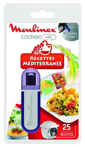Moulinex Clé USB de 25 Recettes Méditerranée XA600011 Accessoire Cookeo Officiel Compatible avec Multicuiseurs Cookeo YY2943FB CE702100