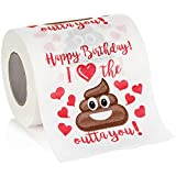Maad Romantic Happy Birthday Novelty Toilet Paper - Funny Gag Birthday Gift for Him or Her