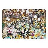 Mickey Cartoon Mouse Coral Terciopelo Suave Moderno Mullido Alfombra de Piso de Alta Calidad Adecuado para Dormitorio, Sala de Estar