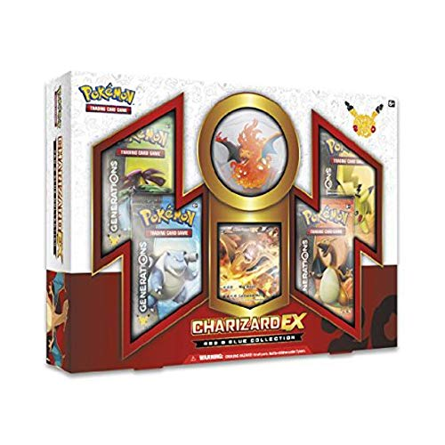 TCG: Charizard-EX Collection Card Game, Red/Blue (Discontinued by manufacturer)