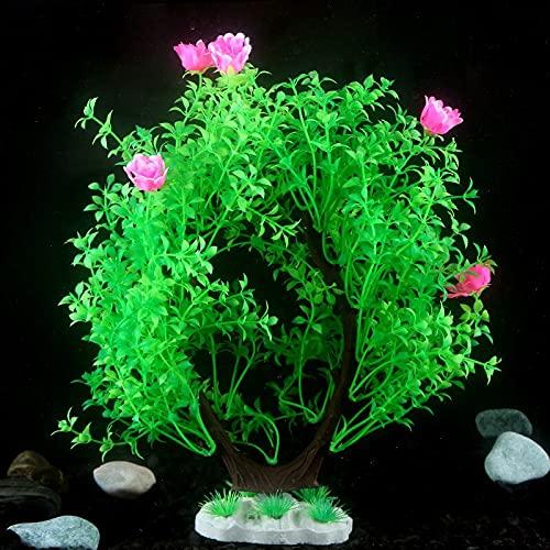 URNOFHW 2pcs décoration d'aquarium Dense Arbre Poisson Poisson réservoir Plante Vivante Artificielle Heed Accessoires AquaScape Ornement Aquarium Décor (Color : 2)