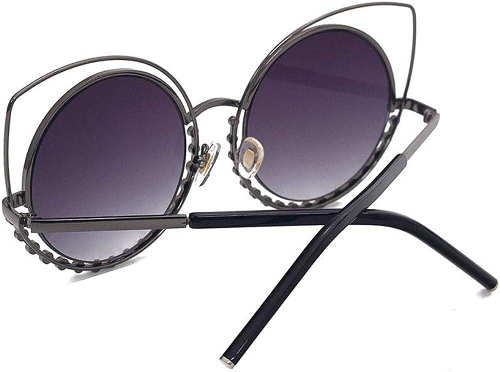 Pilotes pour femmes avec verres teintés, lunettes de soleil avec branches laquées et strass, monture en argent blanc Cadre Doré Couleur Réfléchissante Blanche