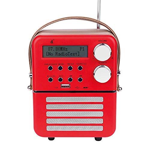 Mini-DAB-Digitalradio Con dl,FM,Bluetooth,USB Play,Timer-Funktion und Wecker-Set mit Wiederaufladbar Batterie (6.3/4.7/2.9inch)