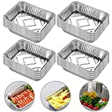 INTVN BBQ Drip Pan Tray - Disposable BBQ Grease Pans - Great for Baking, Roasting, and Cooking - Standard Size 7.3 Inch x 5.3 Inch (Set of 20)