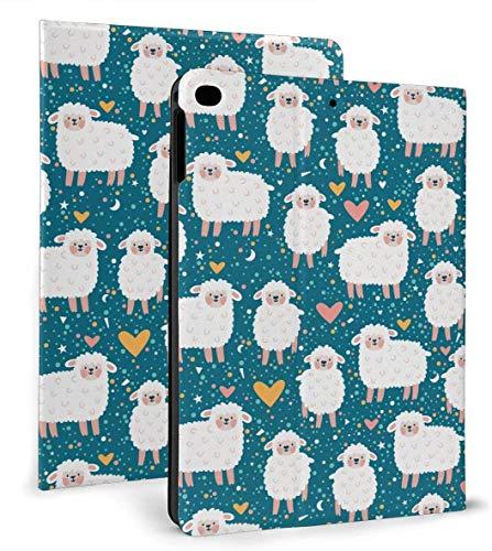 Cute Sheep Heart Star PU Funda Inteligente de Cuero Función de Reposo / activación automática para iPad Mini 4/5 7,9 'y iPad Air 1/2 9,7' Funda