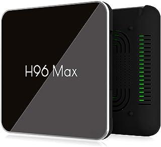 H96 برو ماكس X2 اندرويد 8.1 تي في بوكس 4 جيجا/64 جيجا ثنائي واي فاي بلوتوث 4K مجموعة عليا