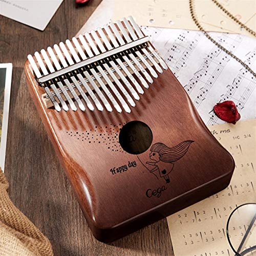SYXMSM Kalimba 17 Tasten Mini Daumenklavier Hochwertigen Holz Mahagonikorpus Mbira Musikinstrument Beste Qualität Maschine 30key-17keys Blauer Hirsch (Color : 17k Gradient Brown)
