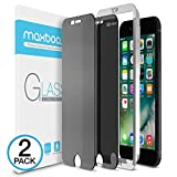 Maxboost Privacy Screen Protector Compatible with Apple iPhone 8 Plus and iPhone 7 Plus (2-Pack…