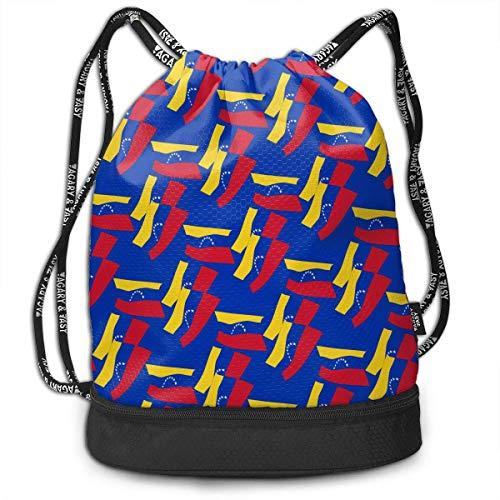 PmseK Mochila con Cordón,Bolsas de Gimnasia, Bolsa de Deporte Venezuela Flag Mode Cordón Bolsa de Gimnasia para Adolescentes