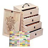 Travel 112 Slot Essential Oil Storage Box - Removable Dividers Fits 5ml, 10ml, 15ml, 30ml Bottles, Tubes, Accessories and More EO Products