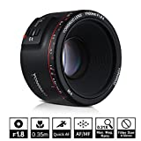 YONGNUO YN50 mm F1.8 II estándar Prime lente de gran apertura Auto Focus 0,35 más cercana longitud focal para Canon EOS 70D 5D2 5D3 600D cámara DSLR