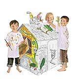 TikTakToo Spielhaus aus Pappe Dschungel Tiere Pappspielhaus zum Bemalen und Dekorieren inklusive...