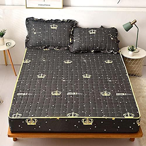 CYYyang Sábana Ajustable súper Suave, cálida y acogedora Una Sola Pieza de sábana de Invierno Engrosamiento-5_150 * 200cm