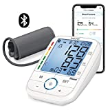 Beurer North America Bluetooth Smart Upper Arm Blood Pressure Monitor with Illuminated Display