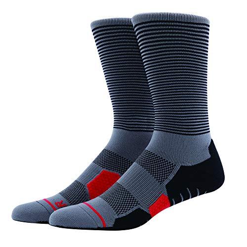 MEIKAN Kompression Wandersocken(2019NEU),Trekkingsocken Fur Herren&Damen (Coolmax),Professioneller Sport Athletic Socken. (Grau-5020, 44-47)