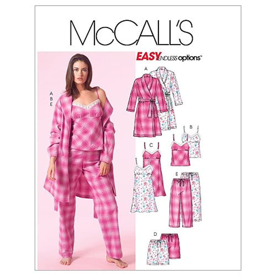 McCall's Patterns M5248 Misses' Robe, Belt, Top, Nightgown, Shorts and Pants, Size Y (XSM-SML-MED)