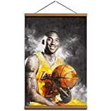 Kobe Canvas Wall Art Poster,Print Pictures Painting with Framed 16x24 inch Ready to Hang for Artwork