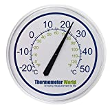 Large Outdoor Thermometer for Indoor or Outdoors - 300mm Garden Thermometer Clear to