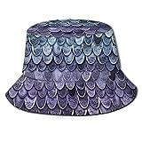 Sombrero unisex con diseño de sirena mágica, color verde azulado místico de pescador, color morado