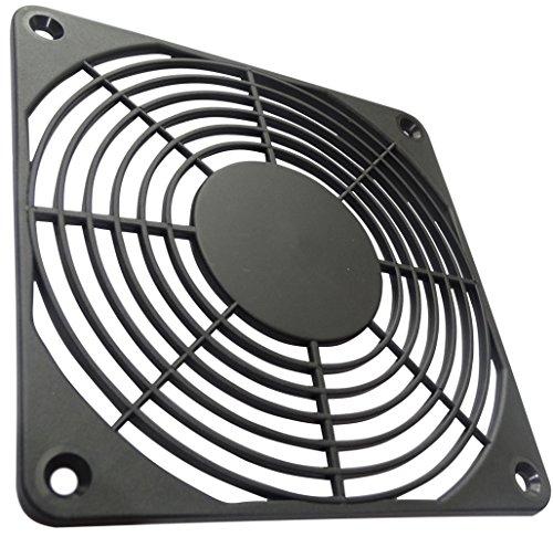 Aerzetix: 2 X Schwarz Schutzgitter Lüftungsgitter 120x120mm Ventilation für Lüfter Gehäuse Computer PC C15129