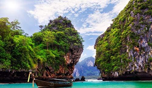 OKOUNOKO Puzzle De 1000 Piezas para Adultos Krabi Tailandia Montaje De Madera Decoración para El Juego De Juguetes para El Hogar Juguete Educativo para Niños Y Adultos