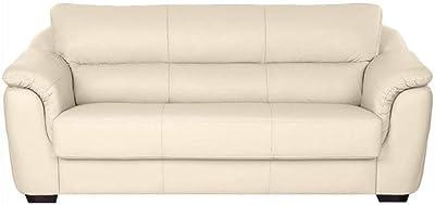 Furny Casagold Leatherette 3 Seater Sofa Set (Cream)