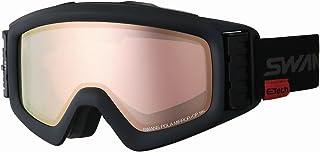 【国産ブランド】SWANS(スワンズ) スキー スノーボード ゴーグル 眼鏡使用可 ファン付 偏光 ミラー ヘリ HELI-MPDTBS-N