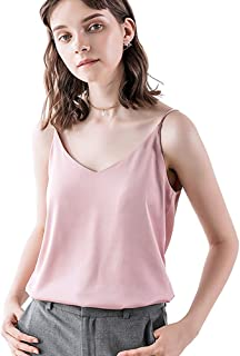 8b36f0fdc2 Bighand Cat Classic Womens Casual Silk Tank Top Ladies Loose Sexy V Neck  Camisole Cami -